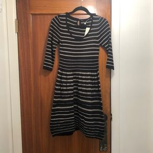 Anthropologie Knitted & Knotted black M dress